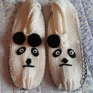 New knitted slippers